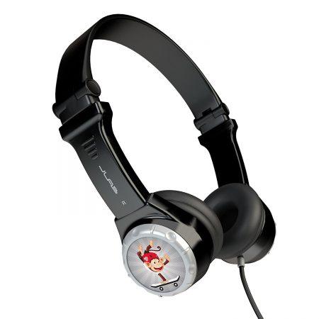 audifonos baratos para niñas y niños marca jlab con cable color negro