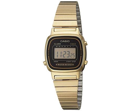 reloje para dama marca casio, color dorado, incluye gps