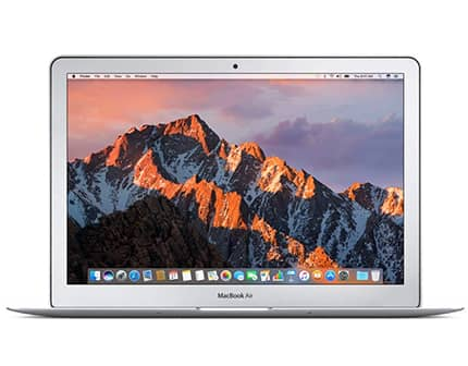 macbook air pro de apple color plata con 8gb de memoria ram y 128gb de disco duro ssd