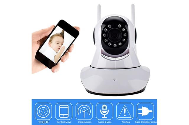 camara de seguridad wifi para cuartos de bebes marca sonolife color blanca