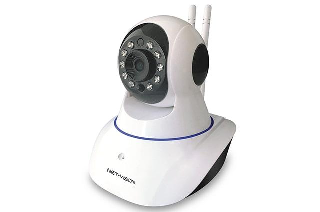 camara inalambrica de seguridad para casa wifi marca net vision color blanca