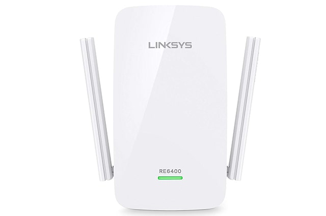 repetidor de internet inalambrico linksys re6400 con puerto ethernet de 1gb, hasta 1200 megas de velocidad