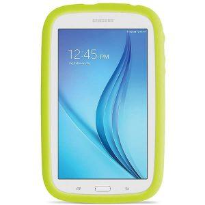 tablet para niños Samsung Galaxy Kids con funda antigolpes y pantalla de 7 pulgadas color blanca
