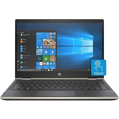 laptop 2 en 1 hp pavilion x360 con pantalla de 14 pulgadas color negra