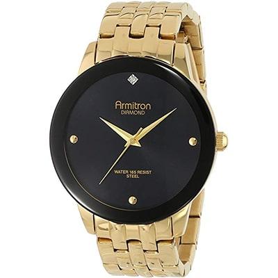 reloj para hombre armitron de brazalete con diamantes color dorado