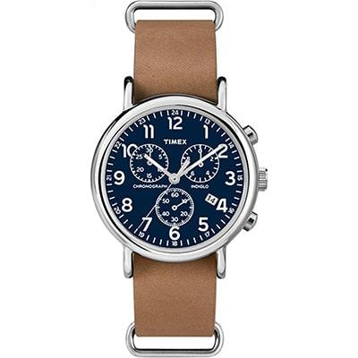 reloj timex formal para hombre analogico color azul