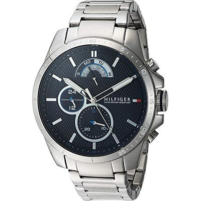 reloj de hombre tommy hilfiger de cristal mineral, resistente al agua