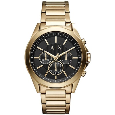 reloj de hombre armani exchange formal en color dorado