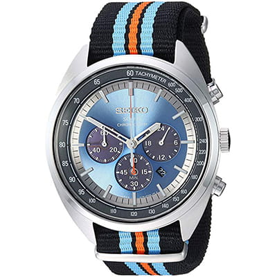 reloj de vestir para hombre seiko recraft series de nailon color negro
