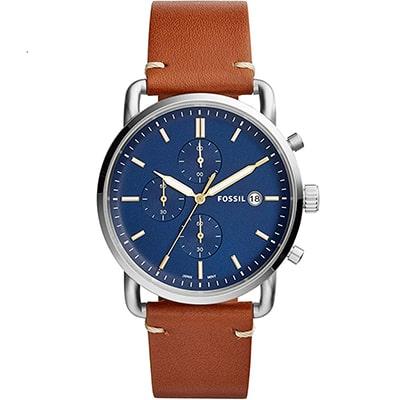 reloj de vestir formal de hombre marca fossil color azul